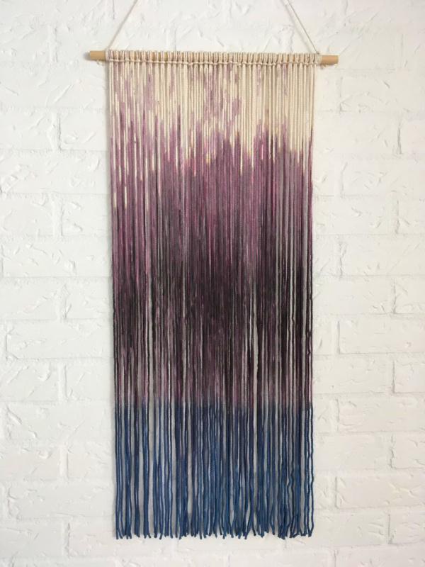 Wandhanger paars/blauw