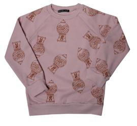 Sweater kauwgomballen maat 110