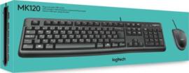 Toetsenbord en Muis Logitech MK120 (Bedraad)