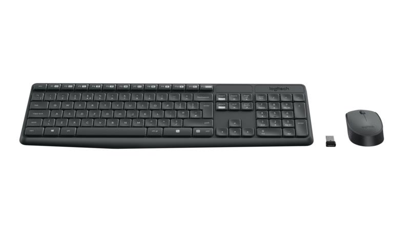 Toetsenbord en Muis Logitech MK235 (Draadloos)