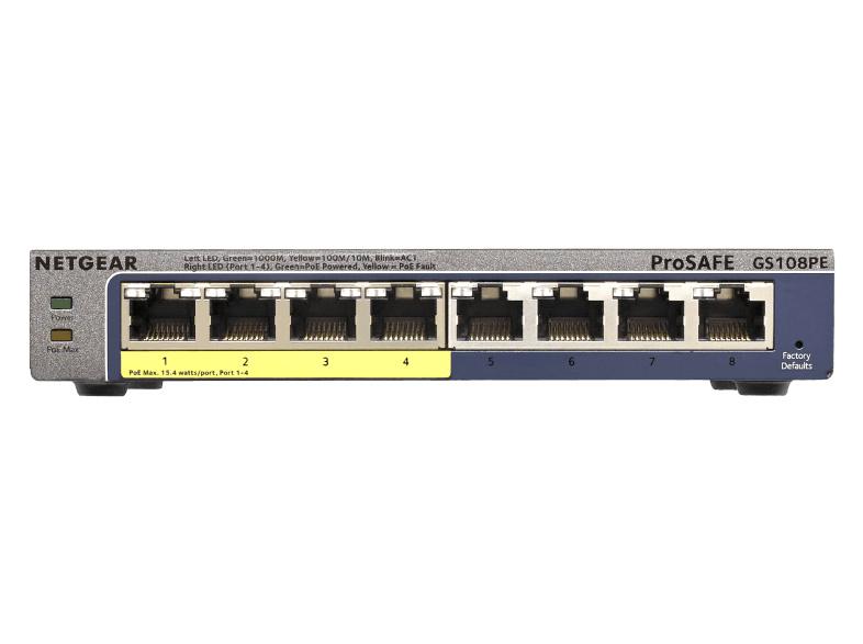 Netgear Prosafe switch 8 poorten