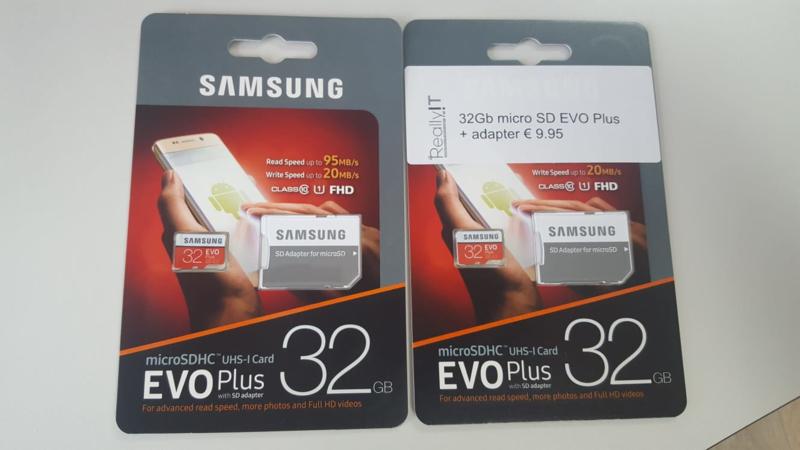 Samsung EVO Plus 32GB micro SDHC card