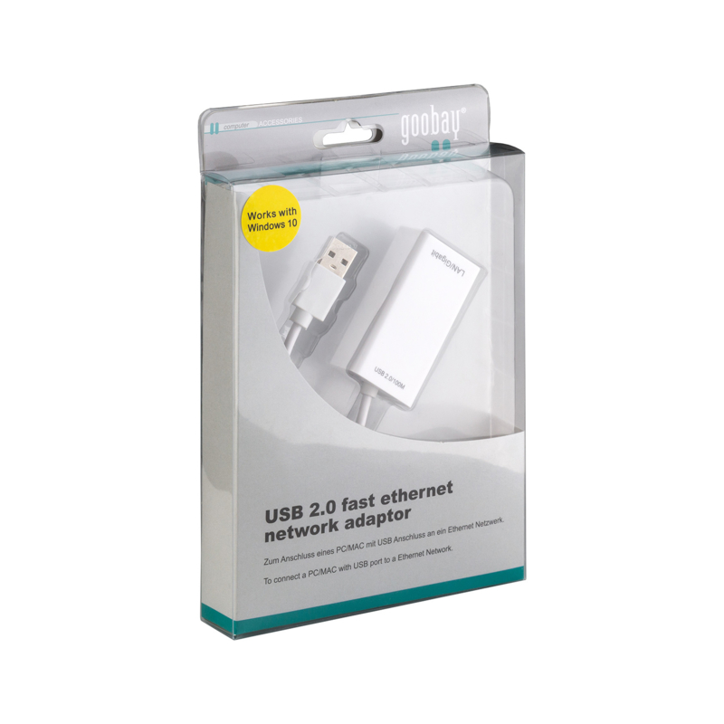 USB 2.0 fast ethernet network adaptor