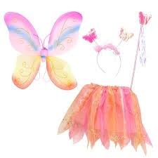 Verkleed set vlinder roze