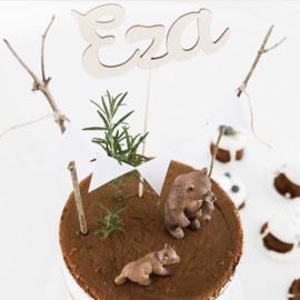 Cake topper 'Naam'