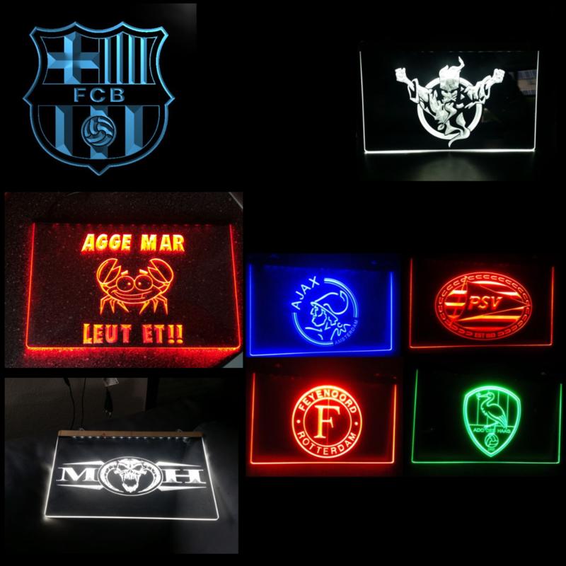 LED bord met logo