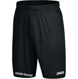 JAKO Short Zwart + naam Junior