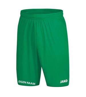 JAKO Short Groen + naam JR