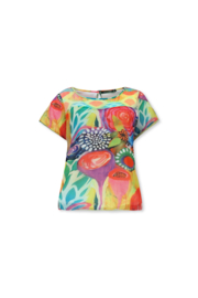 Lizzy & Coco shai top mix mesh print