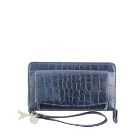 LouLou Essentiels portemonnee | Vintage Croco SLB Dark Blue