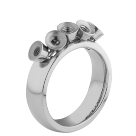 Twisted ring Tess zilver