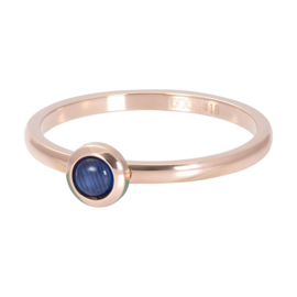 iXXXi ring R04102-02 Zirconia 1 Natural Stone Navy Blue rose goud