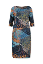 Lizzy & Coco cyp dress, crepe scuba, laserneck, reversible