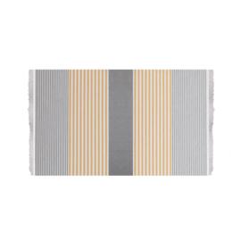 Towel To Go Bali grijs/ mosterd