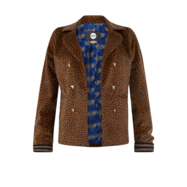 POM blazer Furry Leopard Brown