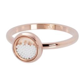 iXXXi ring R04317-02 White Balls rose goud