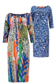 Lizzy & Coco cliff - sc dress reversible scubua junglecats - bluecircles