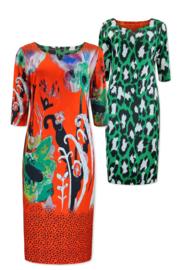 Lizzy & Coco Craft dress reversible lasercut details redflowers - greenanimal
