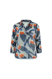 LIzzy & Coco sami top print lined afriquered