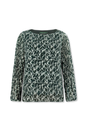 Lizzy & Coco Suzan top, plissee sleeves, lined vis / ea