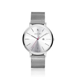 Zinzi Retro horloge zilver 38mm