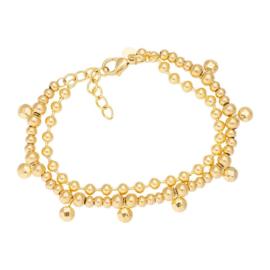 iXXXi ANKLE STRAP DAZZLING CIRCLES goud