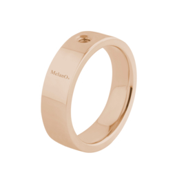 Twisted ring Tatum 8 mm rosé goud