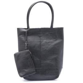 Zebra Natural bag kartel black, croco