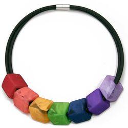 Cube ketting Rainbow