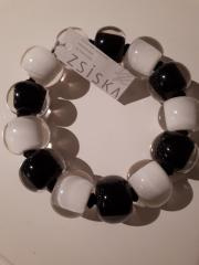 Zsiska armband zwart/wit