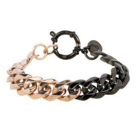 iXXXi steel armband rosé / zwart 19 cm