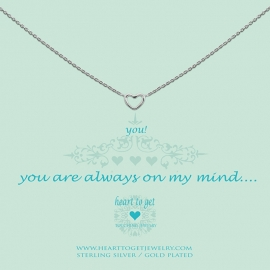 Heart to Get ketting silver, open heart, you are always on my mind N21OPH11S