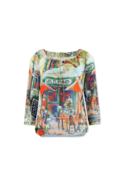 Lizzy & Coco skip top print lined, cord & details lesplatanes