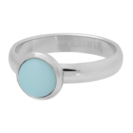 iXXXi ring R04311-03 matt green stone 10 mm zilver