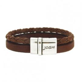 Josh armband 09110 cognac