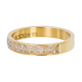 iXXXi ring R04601-01 Snow Glitter goud