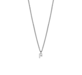 Ketting letter F zilver