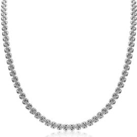 ZINZI zilveren luxe collier 43cm met rolex-style schakels 5mm ZIC1997