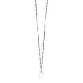 ZINZI zilveren fantasie ketting druppel 40-45cm ZIC1678