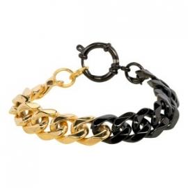 iXXXi steel armband goud / zwart 19 cm