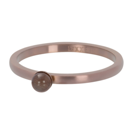 iXXXi ring R04401-11 Cateye Ball matt rose goud