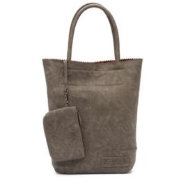 Zebra Natural Bag Kartel Leo Lining grey