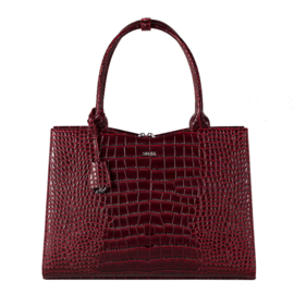 Socha Businessbag Crocodile Burgundy