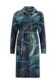 Lizzy & Coco Tami tunicadress mix fabrics satin