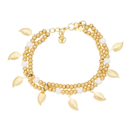 iXXXi ANKLE STRAP DAZZLING LEAVES goud