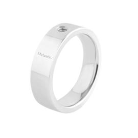 Twisted ring Tatum 8 mm zilver