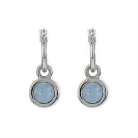 Biba oorbellen air blue opal