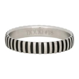 iXXXi ring R03208-18 matt silver / black