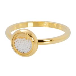 iXXXi ring R04317-01 White Balls goud