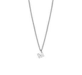 Ketting letter M zilver